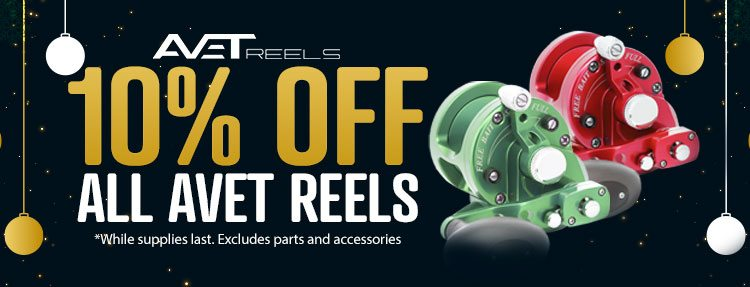 10% OFF All Avet Reels