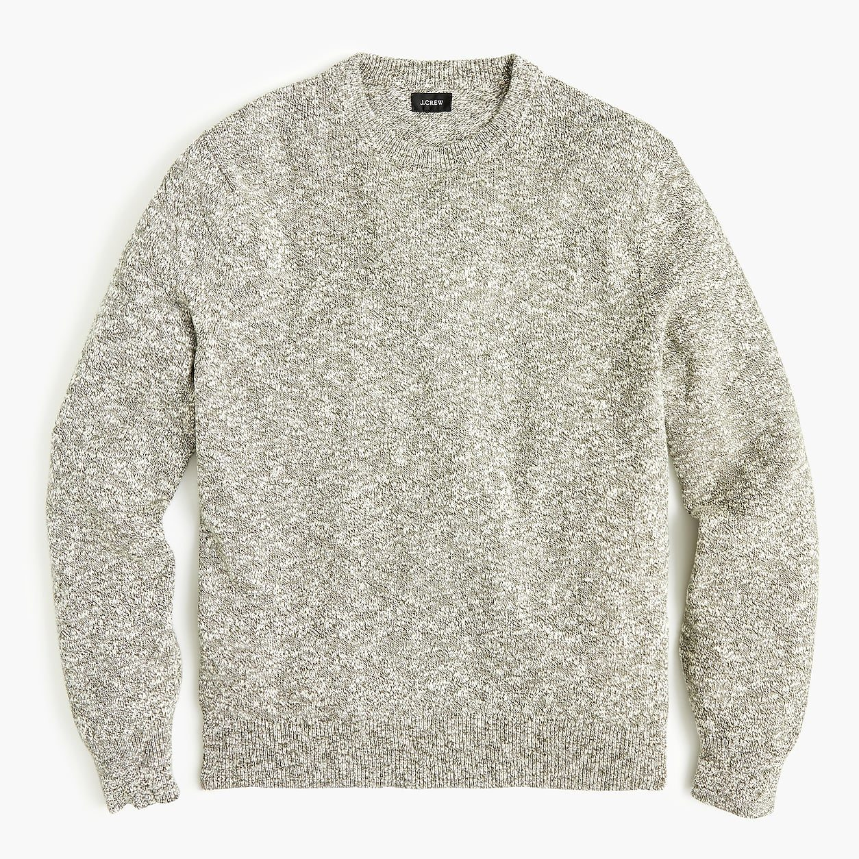 Heathered cotton crewneck sweater