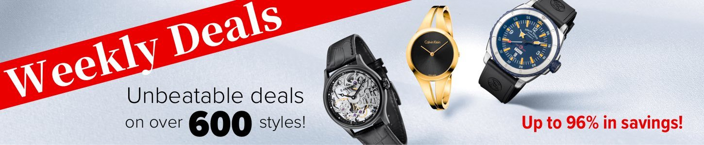 Weekly Deals Unbeatable deals on over 600 styles! Up to 96% in savings!