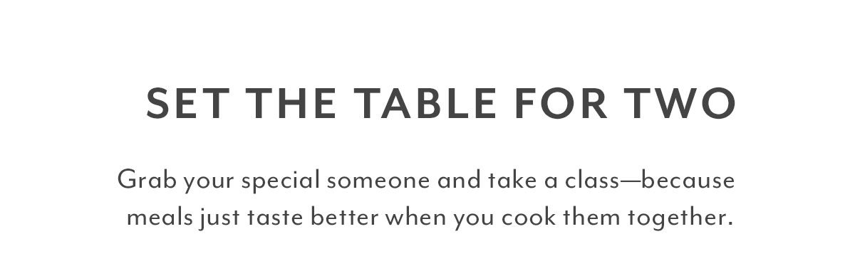 Set the Table for Two
