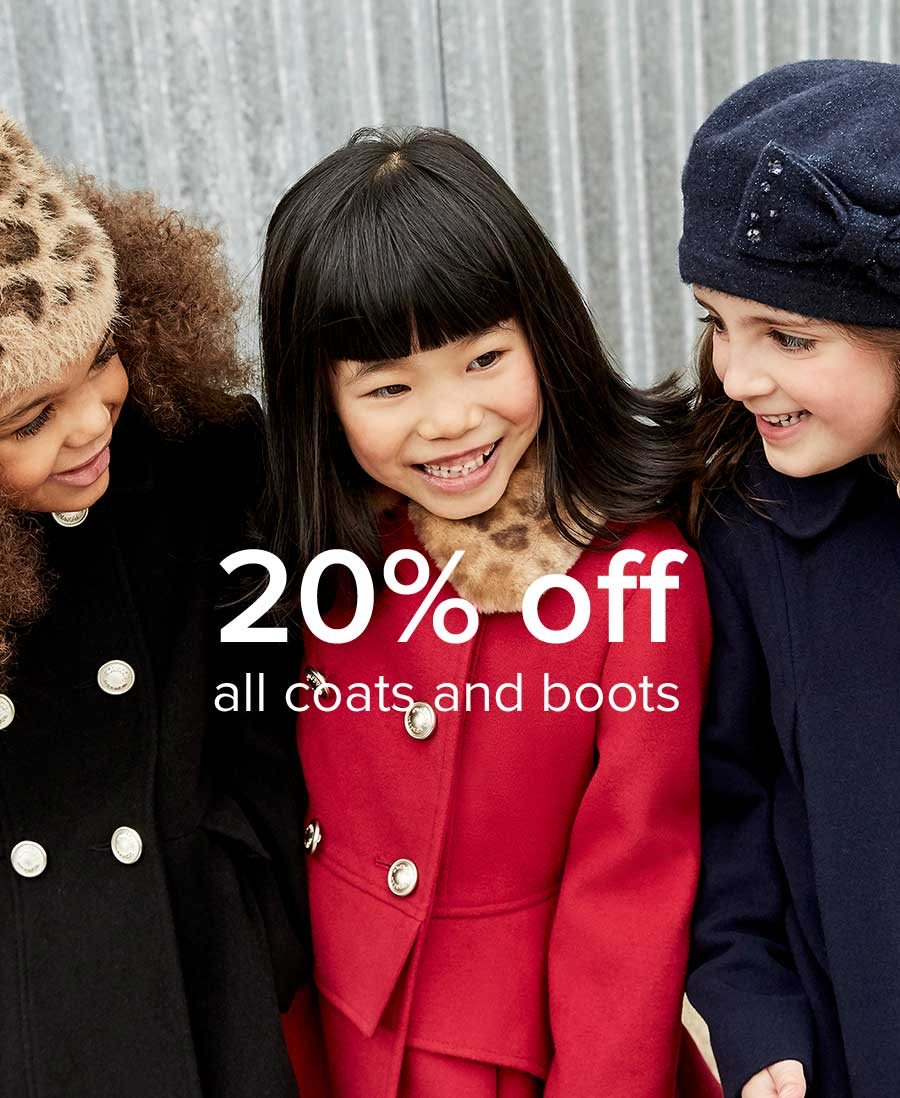 20% Off All Coats and Boots