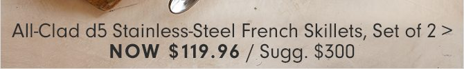 All-Clad d5 Stainless-Steel French Skillets, Set of 2 -Now $119.96