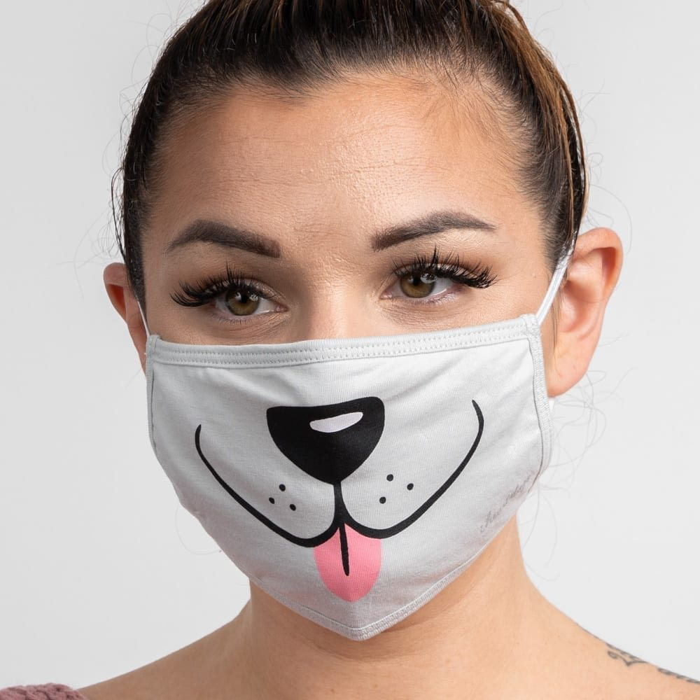 Image of Puppy Face Protective Double Layer Protective Face Covering
