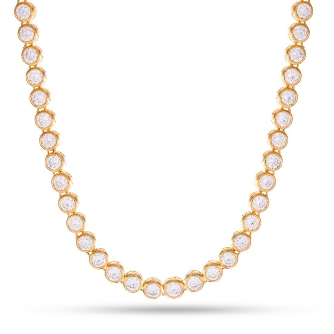 Image of 6mm The 14K Gold Bezel Necklace