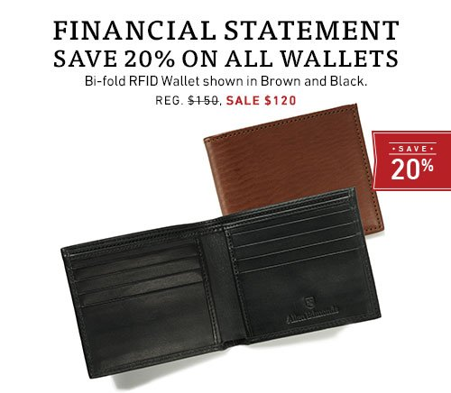 Save 20% on wallets