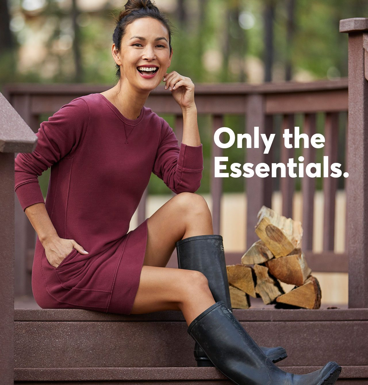 Only the Essentials. The NEW Essential Sweatshirt Dress
