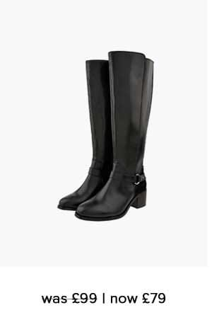EDIE LONG LEATHER BOOTS