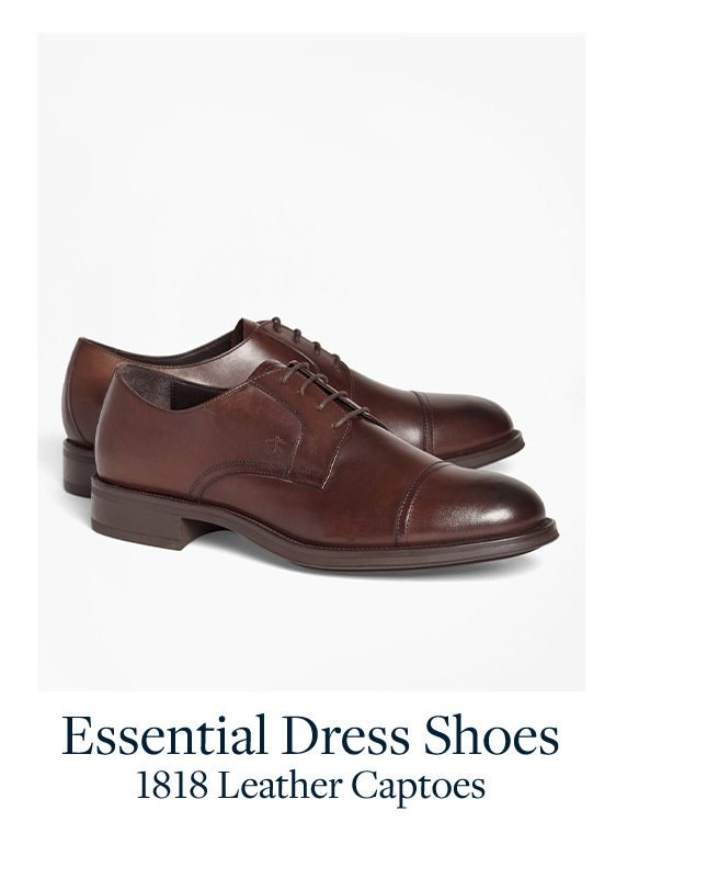 Essential Dress Shoes 1818 Leather Captoes