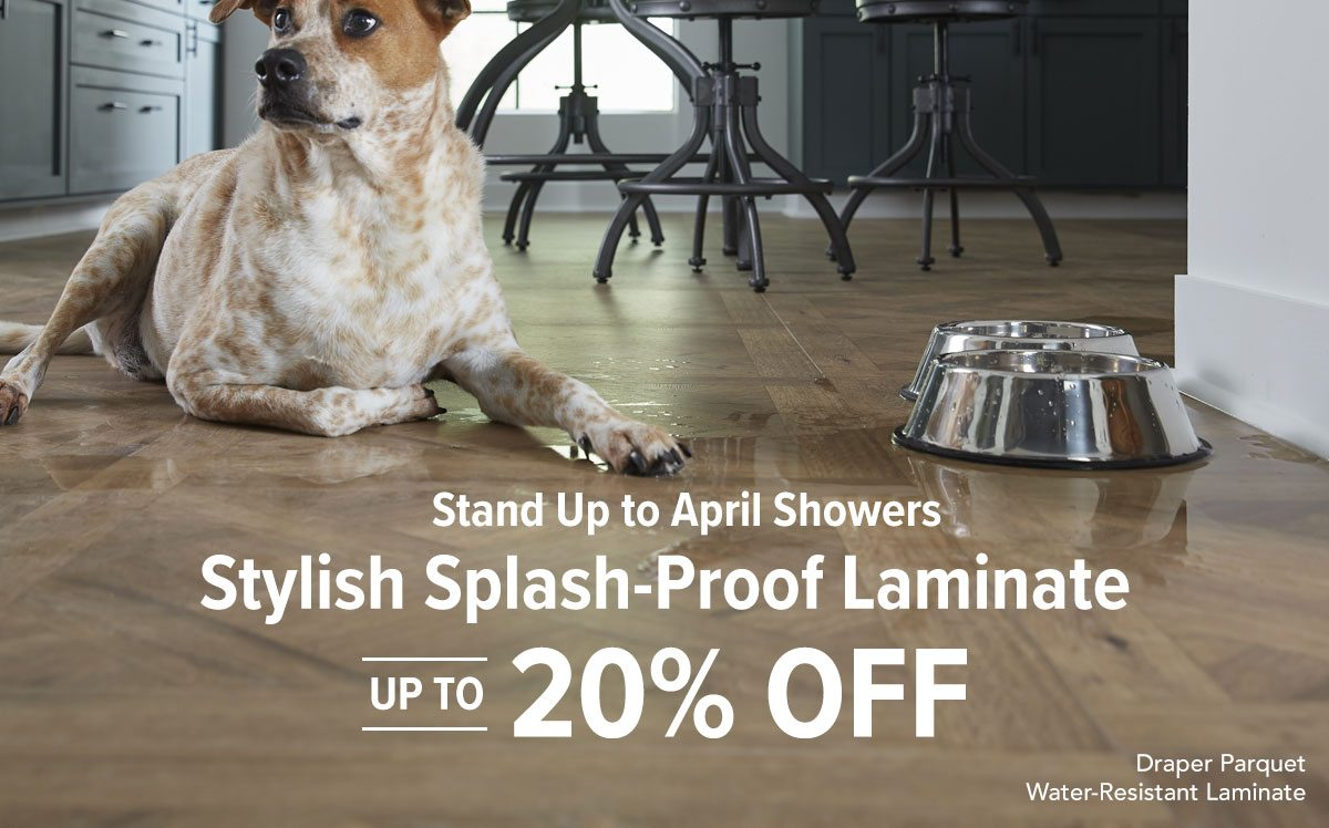 Stylish Splash-Proof Laminate up to 20% off