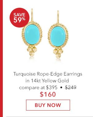 Turquoise Rope-Edge Earrings. Buy Now