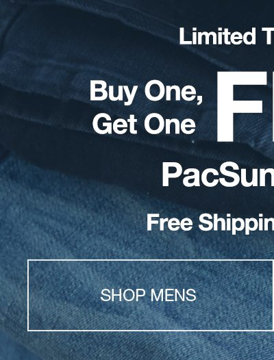 Limited Time - Buy One Get One Free PacSun Denim - Shop Mens