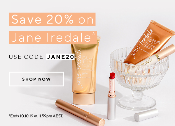 Save 20% on Jane Iredale