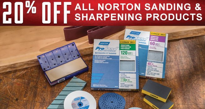 20% Off All Norton Sanding & Sharpening Products