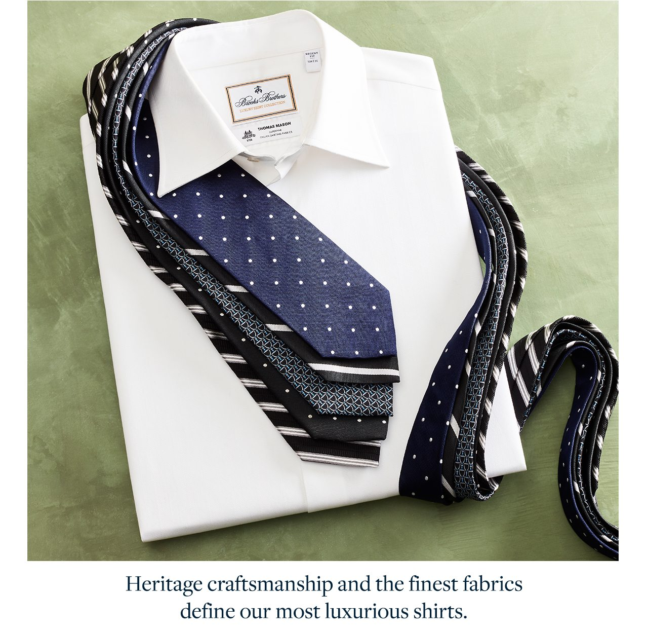 Heritage craftsmanship and the finest fabrics define our most luxurious shirts.