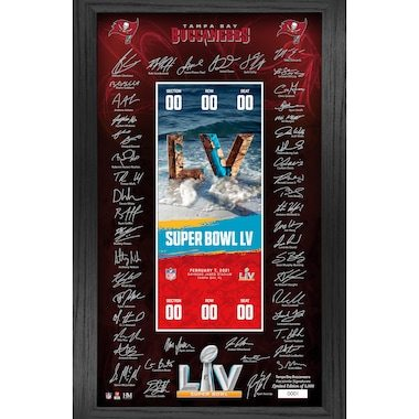 Tampa Bay Buccaneers Highland Mint Super Bowl LV Bound 12'' x 20'' Framed Signature Ticket