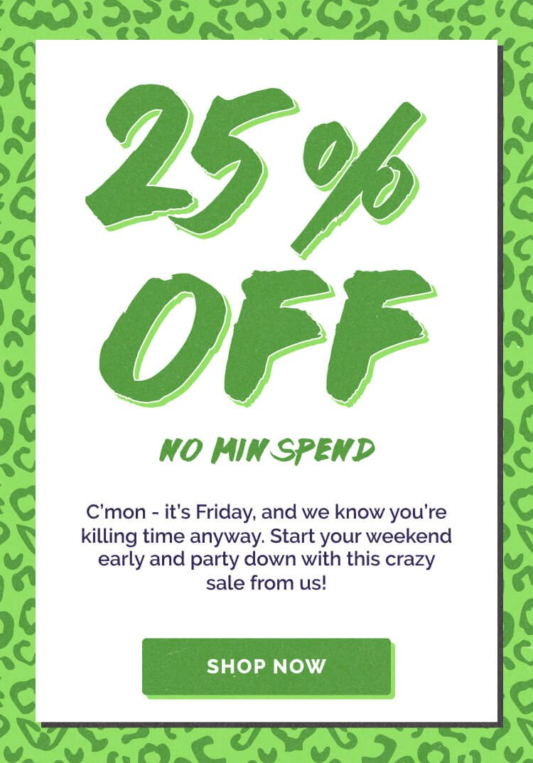 Save 25% Sitewide