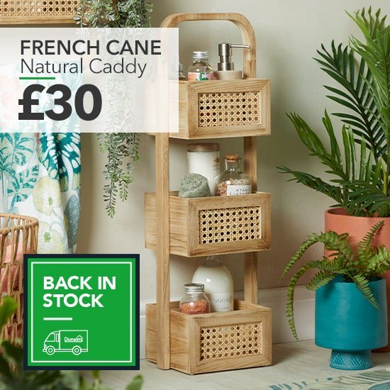 French Cane Natural Caddy £30
