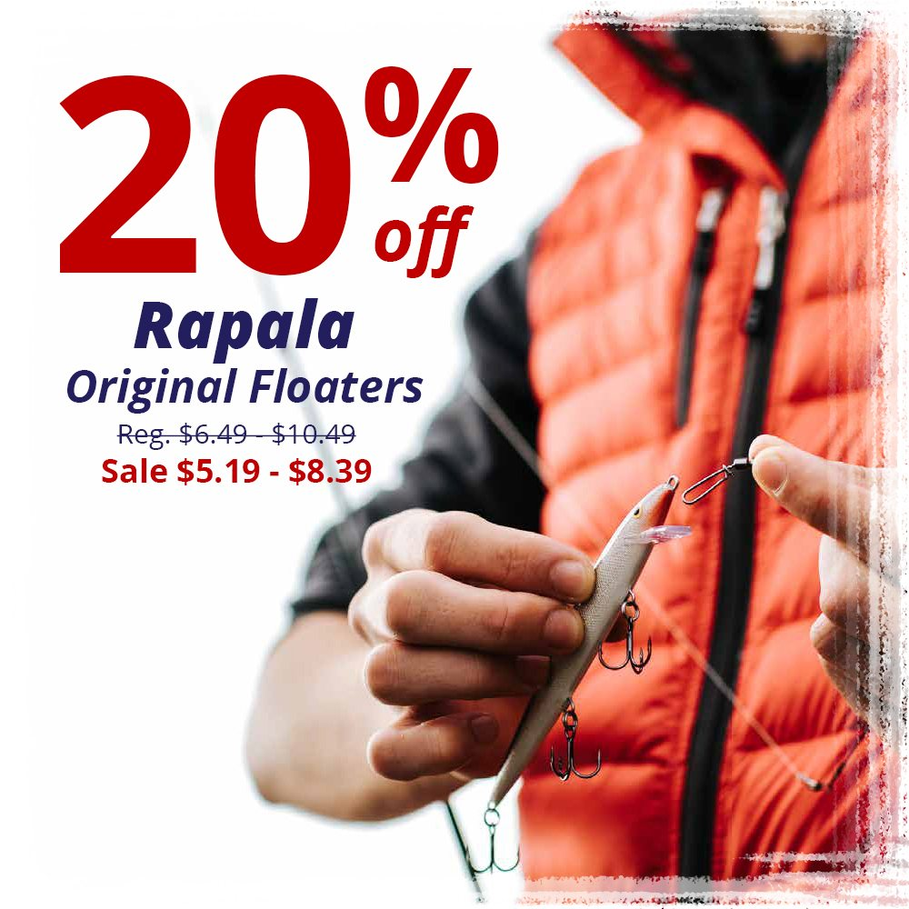 Save 20% on Rapala Original Floaters