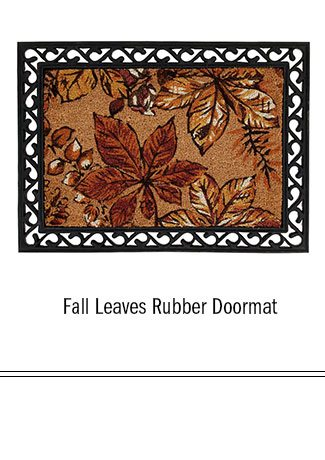 Fall Leaves Rubber Doormat