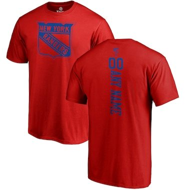 Fanatics Branded New York Rangers Red Personalized One Color Playmaker T-Shirt