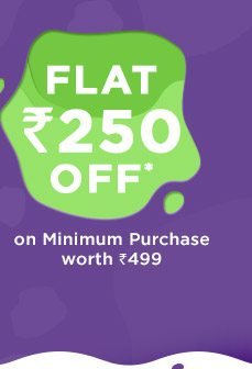 SITEWIDE - Flat Rs. 250 OFF* on Minimum Purchase worth Rs. 499
