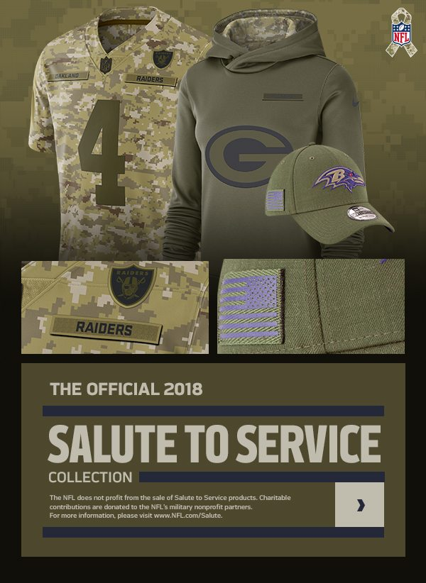 brand new 83620 97b94 Official 2018 NFL Salute to Service Collection Now Available ...