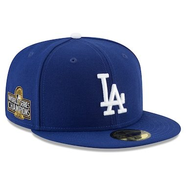Los Angeles Dodgers New Era 2020 World Series Champions Sidepatch 59FIFTY Fitted Hat - Royal