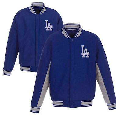 Los Angeles Dodgers JH Design Wool Poly-Twill Accent Jacket - Royal