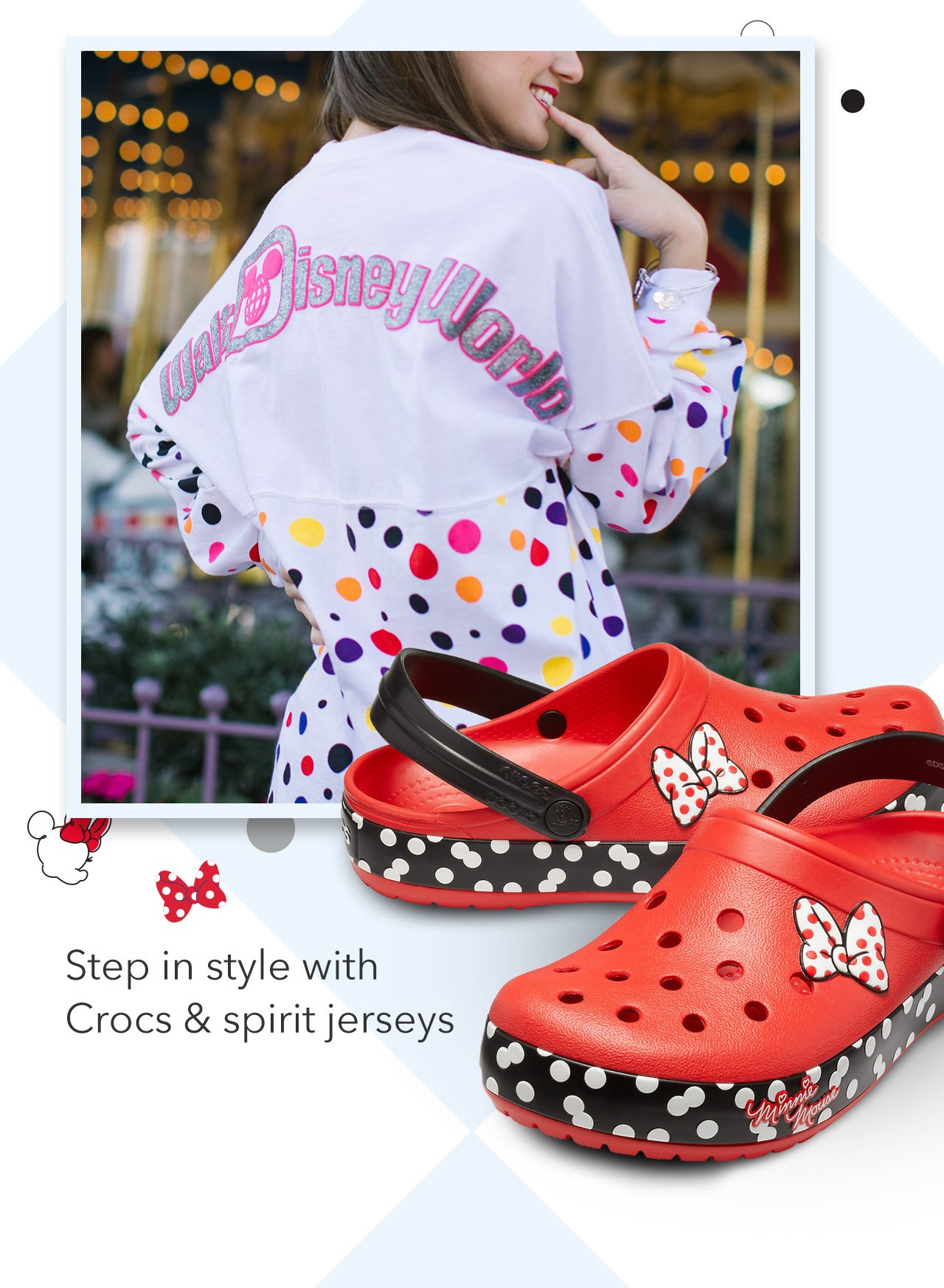 Step in style with Crocs & spirit jerseys