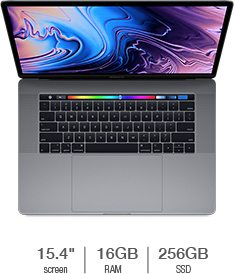 MacBook Pro with Touch Bar featuring 2.2GHz 6-Core Intel Core i7 Processor