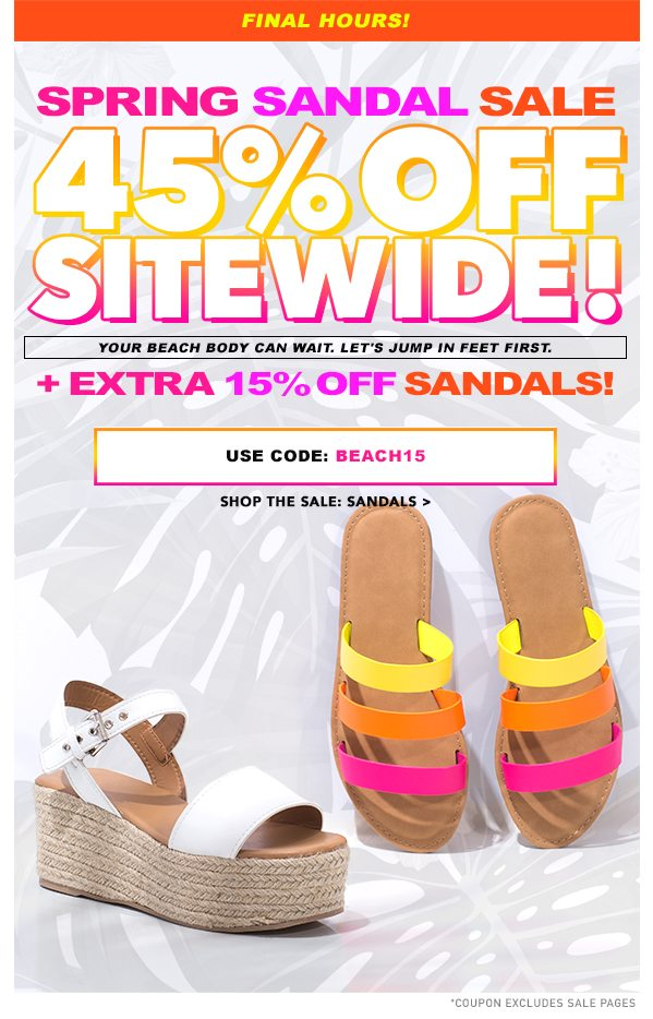 4131f41fe245 Final Hours  45% Off Sitewide + Extra 15% Off Sandals! - Go Jane ...