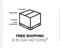 Free Shipping and 30 Day Returns#