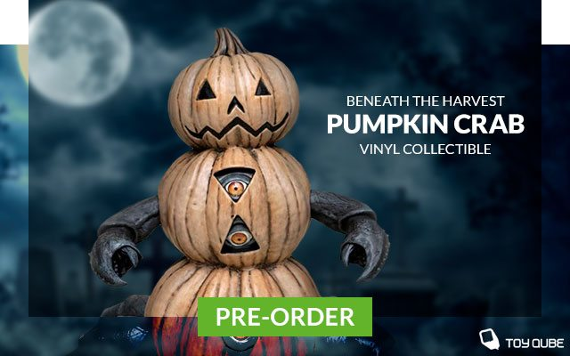 """""""Beneath the Harvest"""" Pumpkin Crab Vinyl Collectible by ToyQube"""