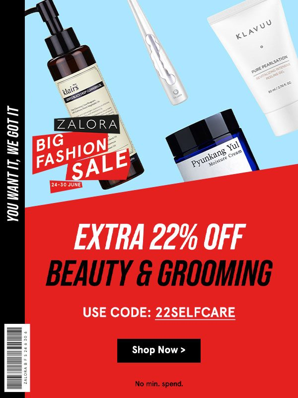 Extra 22% Off Beauty & Grooming