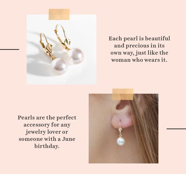 June's birthstone is Pearl, the perfect accessory for any jewelry lover or someone with a June birthday. Shop all pearls.