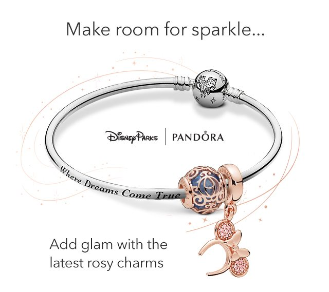 Add glam with the latest rosy charms from Pandora | Shop Now
