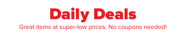 Daily Deals - Great items at super-low prices. No coupons needed!
