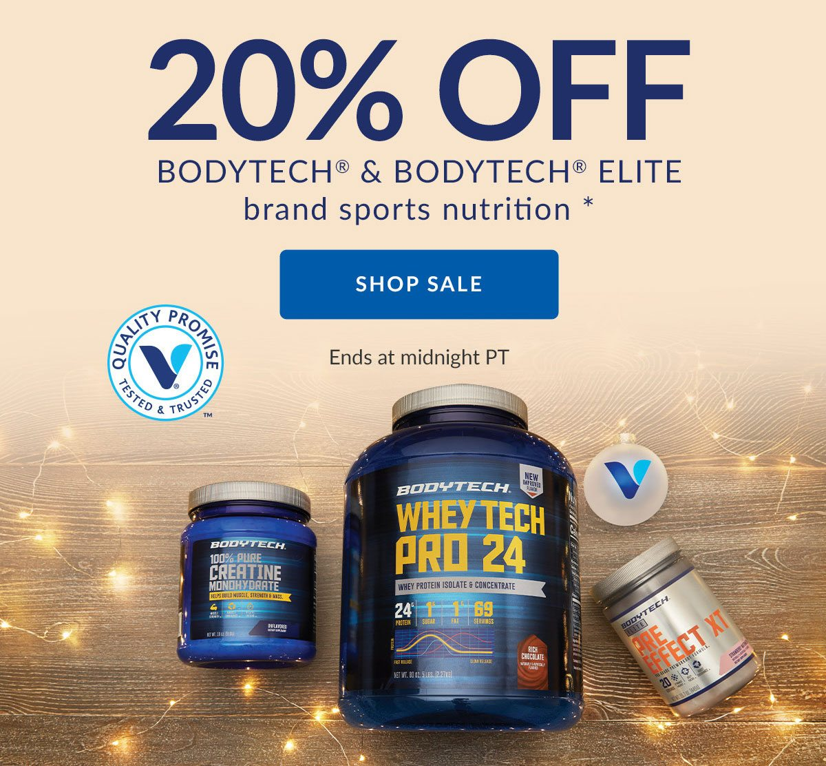 20% OFF BODYTECH & BODYTECH ELITE brand sports nutrition * | SHOP SALE | Ends at midnight PT