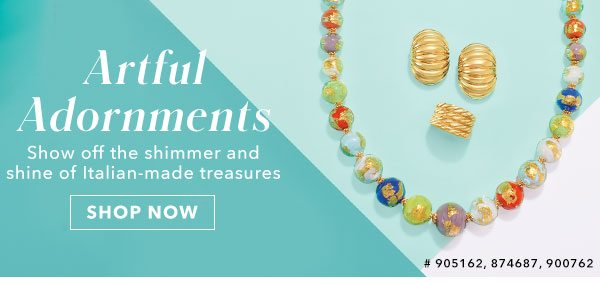 Artful Adornments. Shop Now