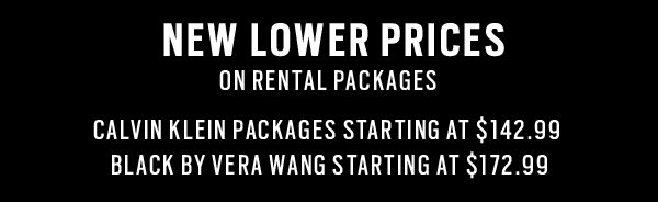 NEW LOWER PRICES 8 PIECE RENTAL PACKAGES