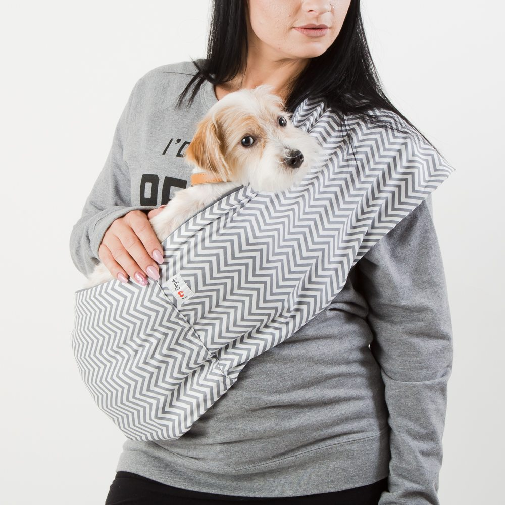 Image of Ziggy Zaggy Waggy Calming Aromatherapy Dog Carrier Sling