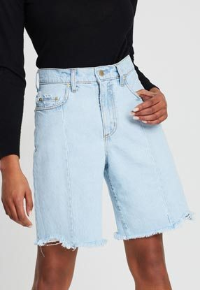 Raw Seam Longline Shorts