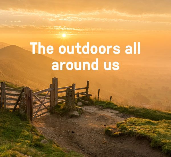 The outdoors all around us