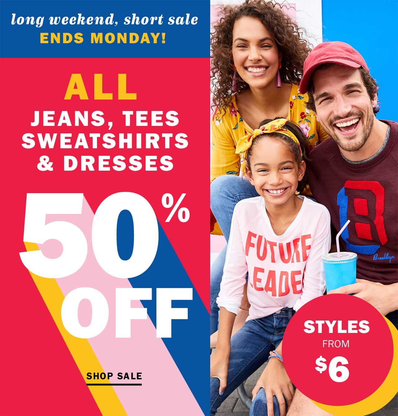 FWD: FIFTY PERCENT OFF *all* jeans, dresses & tees - Old Navy Email ...