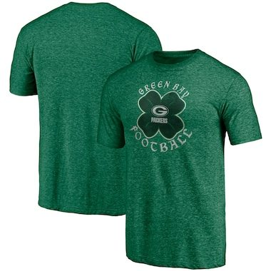 Green Bay Packers Fanatics Branded St. Patrick's Day Celtic Tri-Blend T-Shirt – Kelly Green