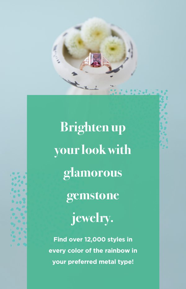 Brighten up your look with colorful gemstone jewelry