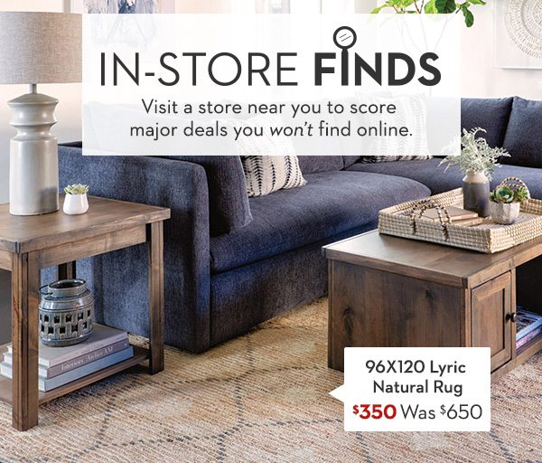 96X120 Lyric Natural Rug Was: $650 Now: $350