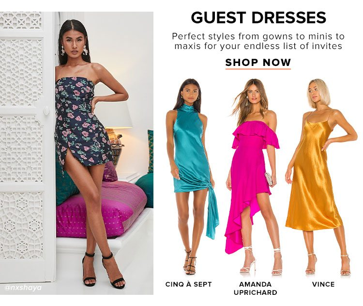 Guest Dresses. Perfect styles from gowns to minis to maxis for your endless list of invites. Shop Now.