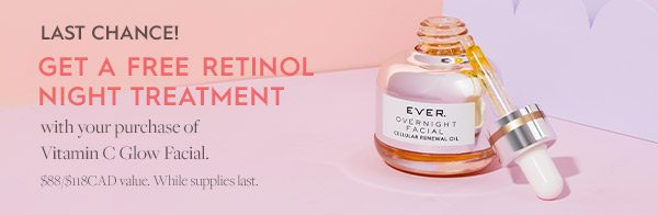 Last chance for a free Overnight Facial Oil!