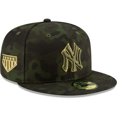 New York Yankees New Era 2019 MLB Armed Forces Day On-Field 59FIFTY Fitted Hat - Camo